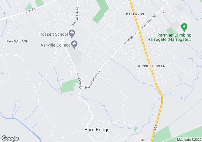 Map for Rossett Green Lane, Harrogate