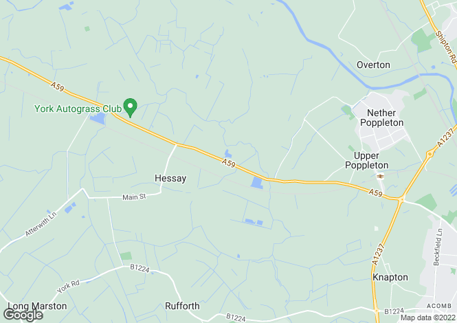Map for Nairobi Stables, Upper Poppleton, York, North Yorkshire, YO26