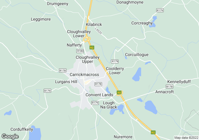 Map for ALDERWOOD, CARRICKMACROSS, CO MONAGHAN