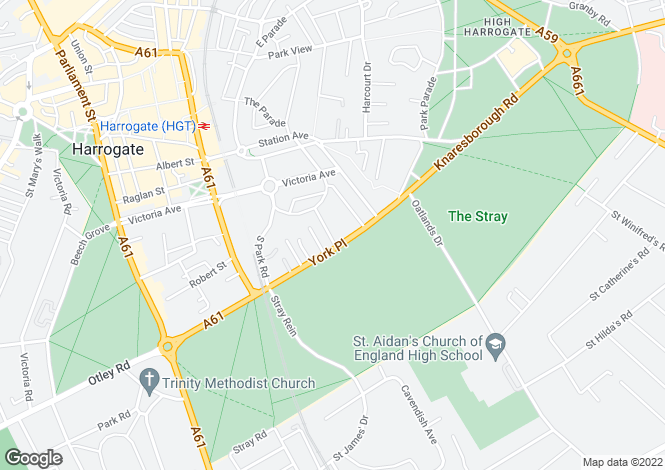Map for Stray Court, Princes Villa Road, Harrogate, HG1