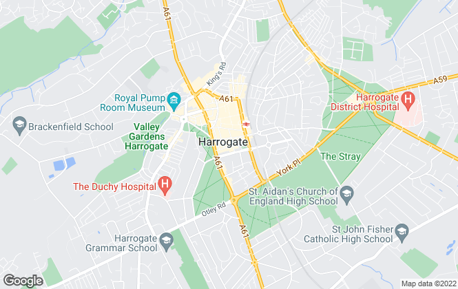 Map for Myrings Estate Agents, Harrogate