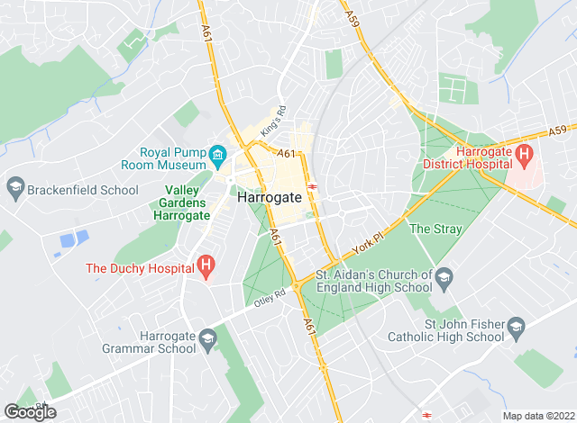 Map for Sherringtons Estate Agents, Harrogate