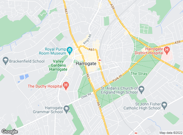 Map for Carter Jonas, Harrogate