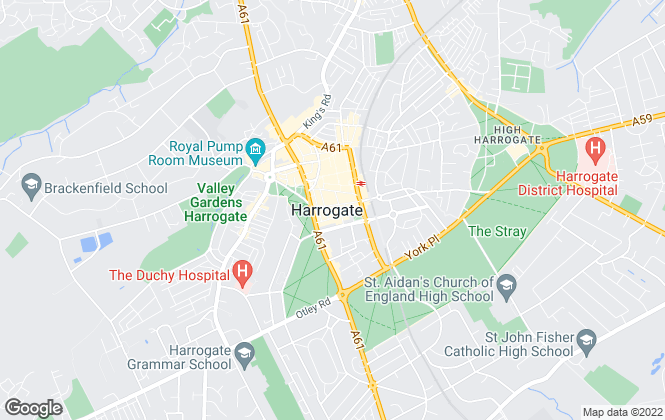 Map for Bridgfords Lettings, Harrogate