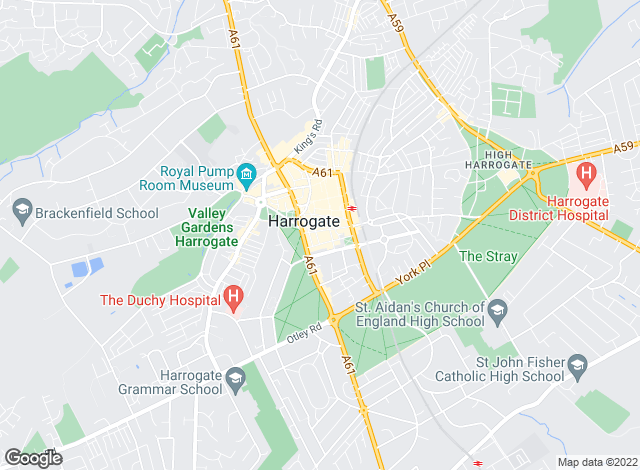 Map for Nicholls Tyreman, Harrogate