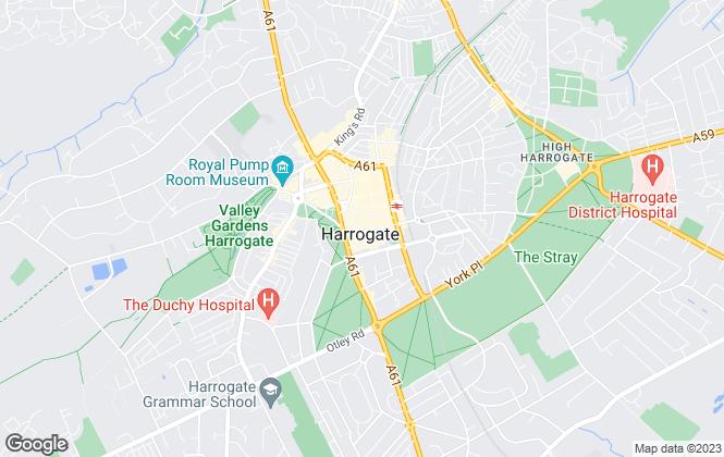 Map for Bridgfords Lettings, Harrogate