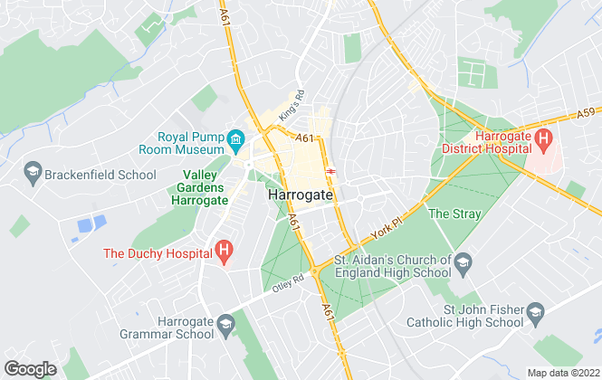 Map for Knight Frank, Harrogate