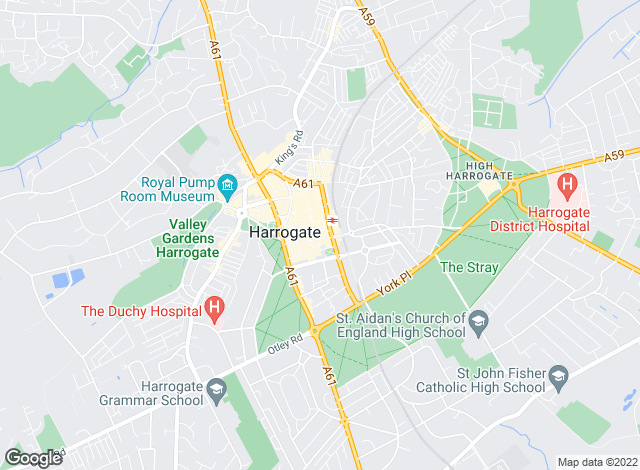 Map for Beadnall & Copley, Harrogate