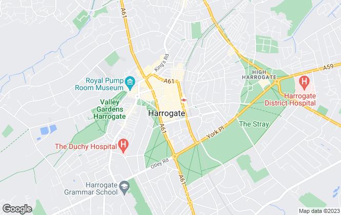 Map for Hopkinsons, Harrogate
