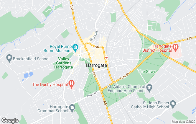 Map for Hopkinsons, Harrogate