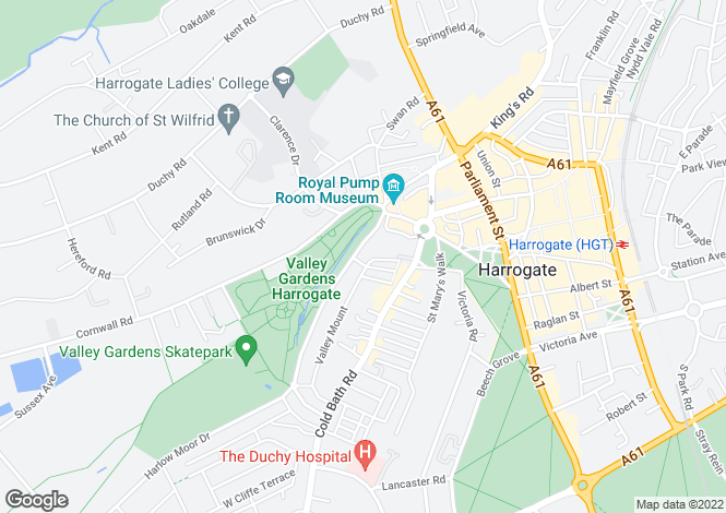 Map for Valley Drive, Harrogate, HG2
