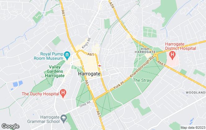 Map for homes4harrogate, Harrogate