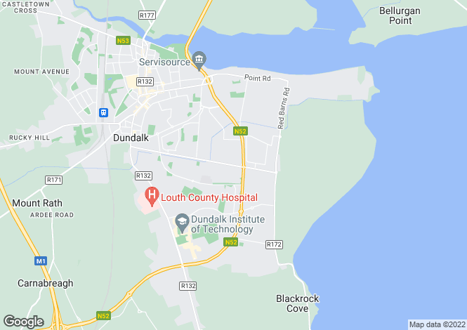 Map for Medebawn, Avenue Road, Dundalk, Louth
