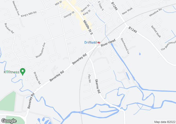 Map for The Old Maltings Skerne Road, Driffield YO25