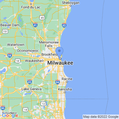 Map of truck driving jobs in Milwaukee, Wisconsin