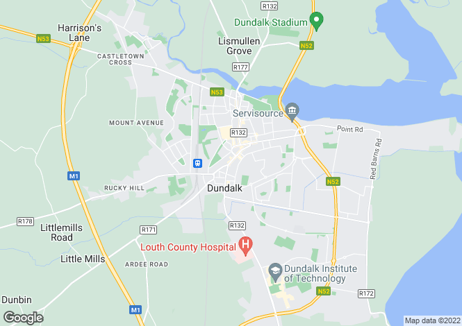 Map for 64-65 Park Street, Dundalk, Louth