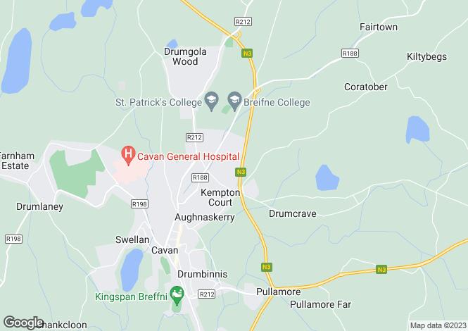 Map for 3 Rocklands, Cavan, Cavan