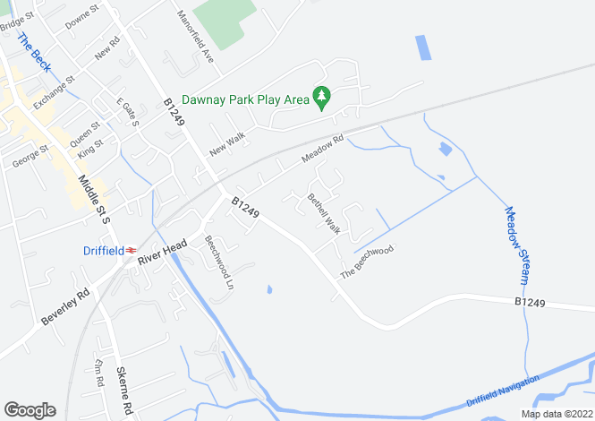 Map for Macintosh Drive, Driffield,