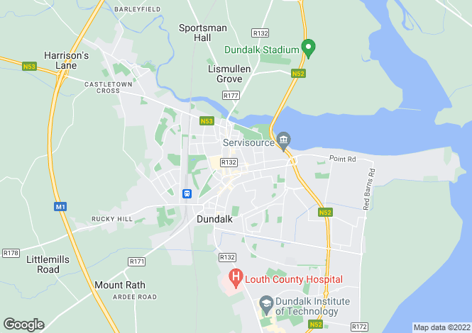 Map for 23A Market Street, Dundalk, Louth