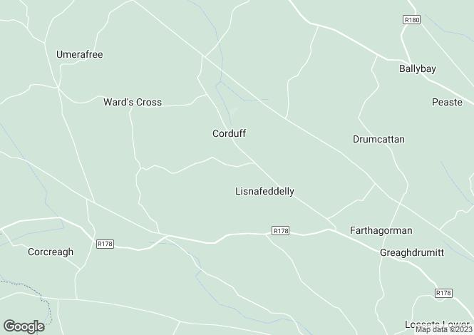Map for Carrickartagh, Corduff, Carrickmacross, Monaghan