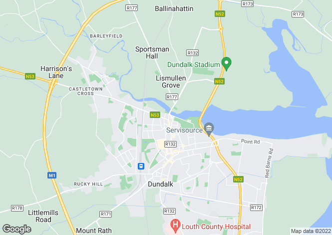 Map for Dundalk, Louth