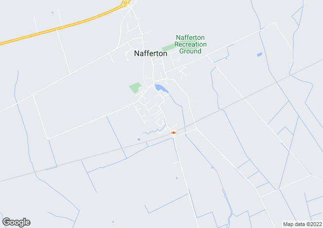 Map for The Nunings, Nafferton, East Yorkshire, YO25
