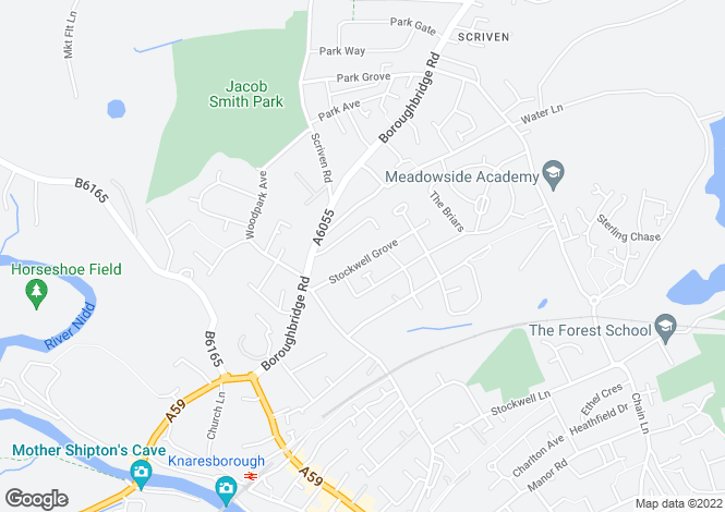 Map for Stockwell Grove, Knaresborough, HG5 0LN