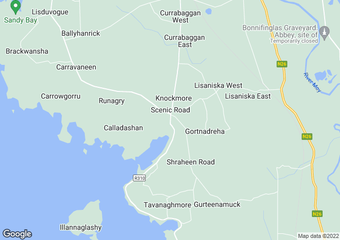 Map for Mayo, Knockmore