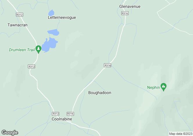 Map for Tristia, Crossmolina, Co Mayo