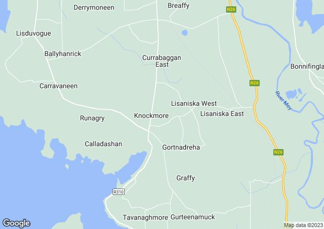 Map for Ballina, Mayo