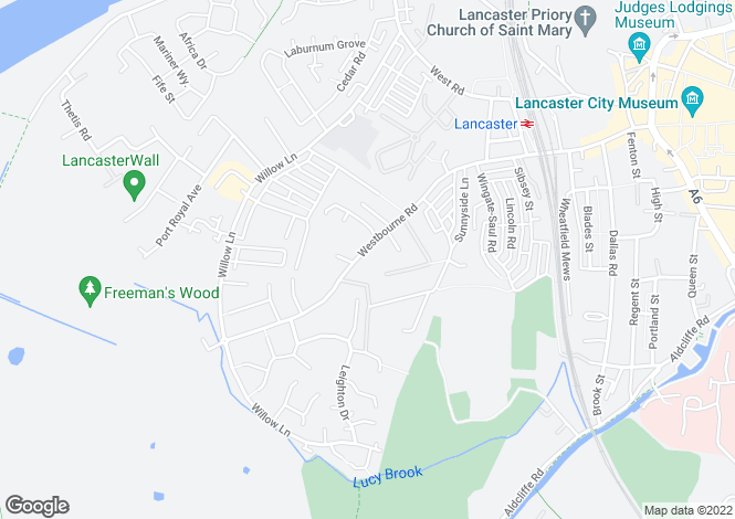 Map for The Knoll, Westbourne Road, Lancaster,LA1 5EF