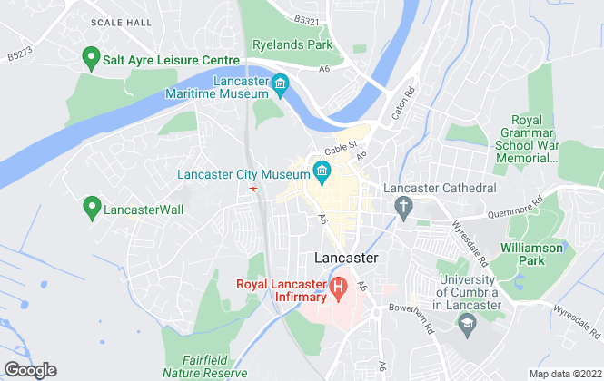 Map for R & B Estates, Lancaster - Lettings