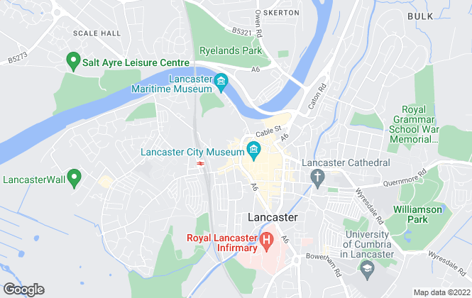 Map for Castle Properties Lancaster Ltd, Lancaster
