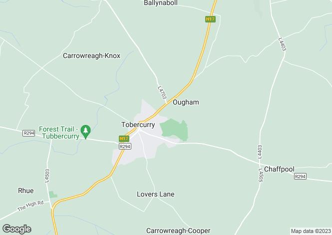 Map for 13 Springvale Heights, Tubbercurry, Sligo