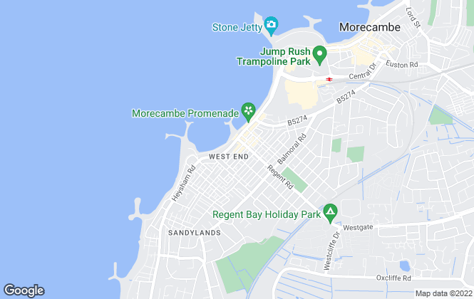 Map for Penguin Property Estates Ltd, Morecambe