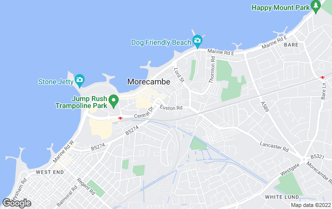 Map for Hayley Baxter Sales & Lettings, Morecambe