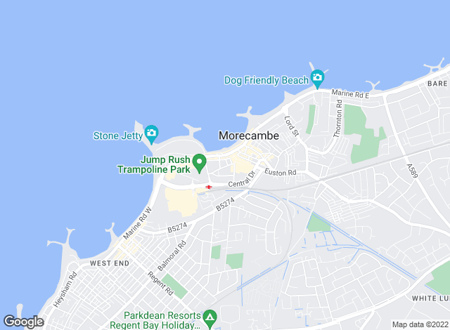 Map for Entwistle Green, Morecambe