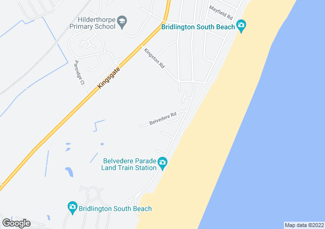 Map for Belvedere Road, Bridlington YO15