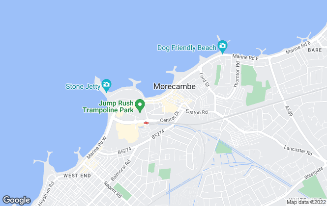 Map for JD Gallagher Estate Agents , Morecambe