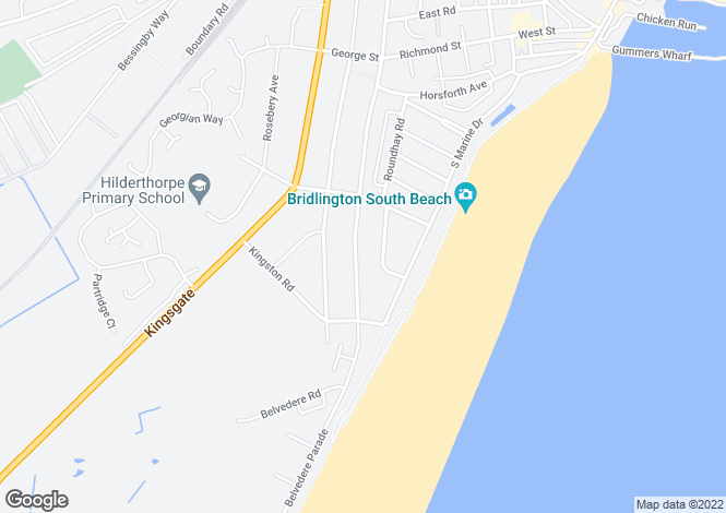 Map for Cardigan Road, Bridlington, East Yorkshire, YO15