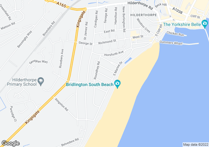 Map for Marine Court, Summerfield Road, Bridlington