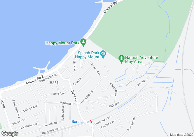 Map for Mount Avenue, Morecambe, Lancashire