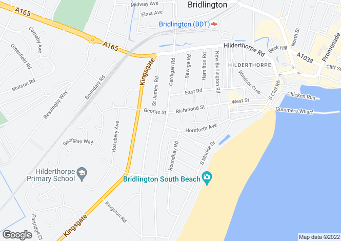 Map for Cardigan Road, Bridlington, East Riding Of Yorkshire