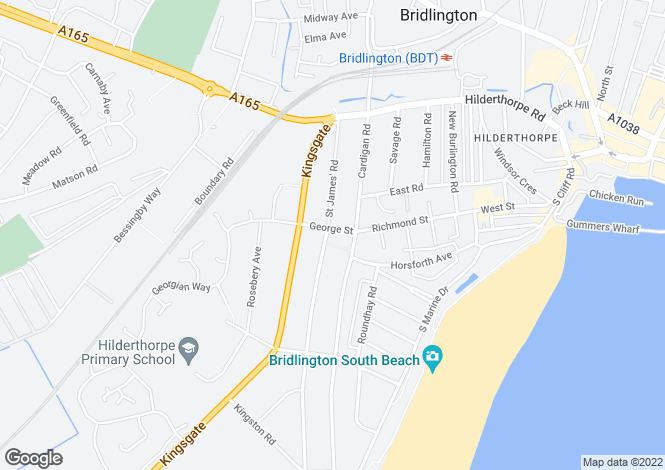 Map for George Street, Bridlington, East Yorkshire, YO15