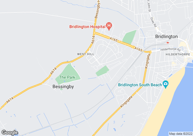 Map for Cranbeck Close, Bridlington, East Yorkshire