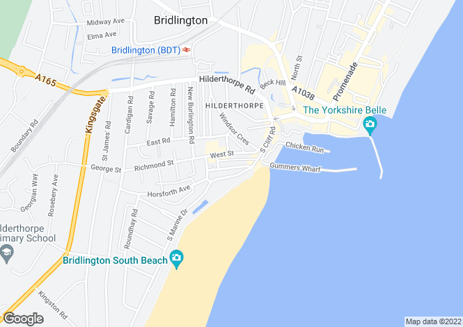 Map for Pembroke Terrace, Bridlington, North Humberside, YO15