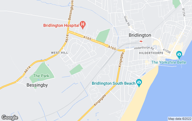 Map for East Riding of Yorkshire Council, Bridlington Business Centre