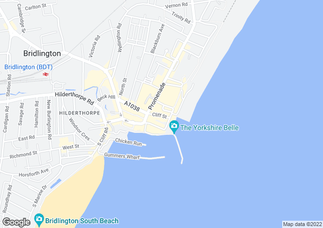 Map for The Crescent, Bridlington, North Humberside, YO15
