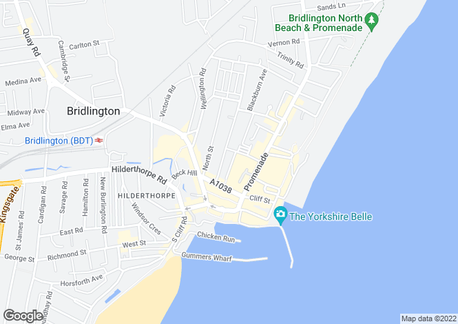 Map for Rope Walk, Bridlington YO15
