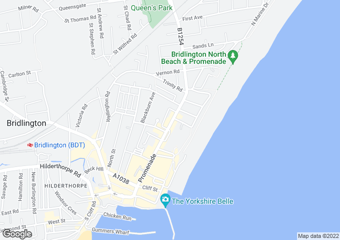 Map for Promenade, Bridlington, East Yorkshire